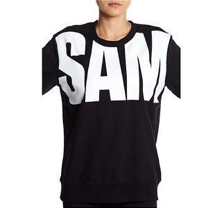 Sam Edelman Peek-A-Boo Sweatshirt...Black...$65
